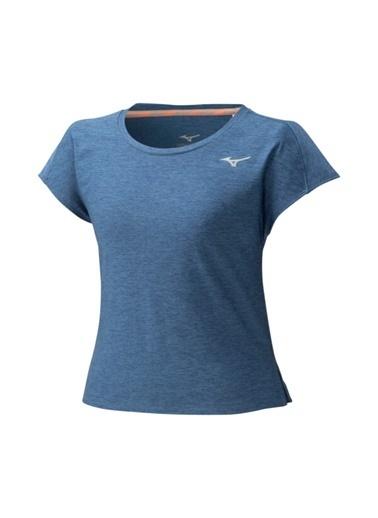 Mizuno Style Tee Kadın T-Shirt Mavi Lacivert